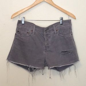 Levi's 501 Button Fly Cuttoff Denim Shorts Size 28